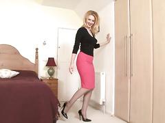 Marlyn renounce-depart from Satin slip sexypot!