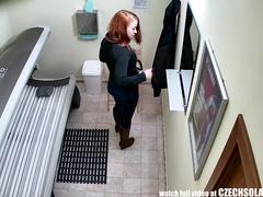 Teen Redhead relating to hammer away aura