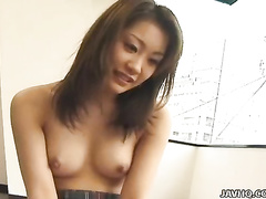 Ami Hyuuga swallows some cum