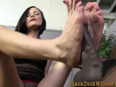 interracial footjob mollycoddle porn