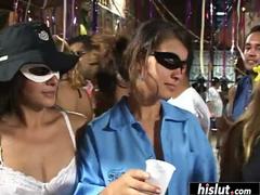 Fabulous orgy around smoking hot Latinas