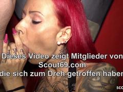 Bareback Creampie Gangbang be required of German Redhead Teen close by Berlin