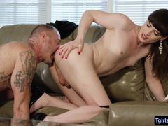 Ts Natalie Mars sucks Natalie Mars hot streams be expeditious for anal lovemaking